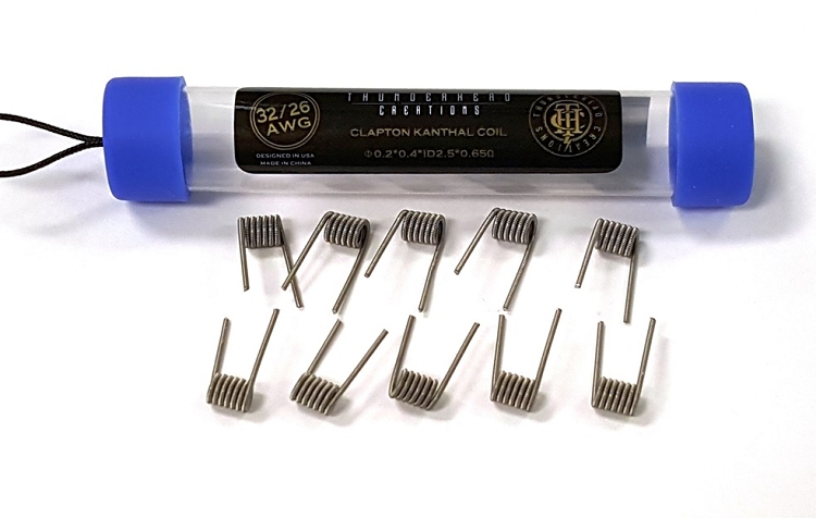 Clapton Kanthal Coils 32/26 AWG by ThunderHead Creations 10 Pack