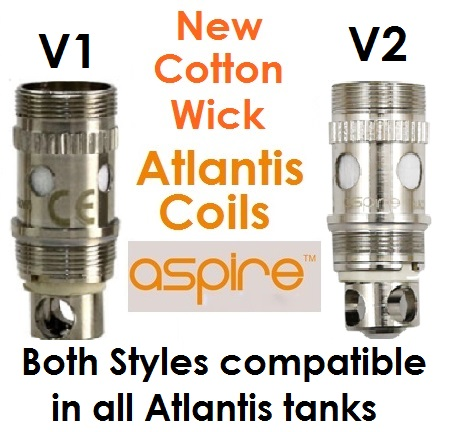 Cotton Wick Atlantis Coil Head