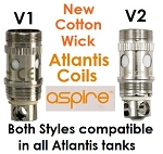 Cotton Wick Atlantis Coil Heads