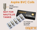 Aspire BVC Bottom Vertical coil heads for K1 and BDC series tanks