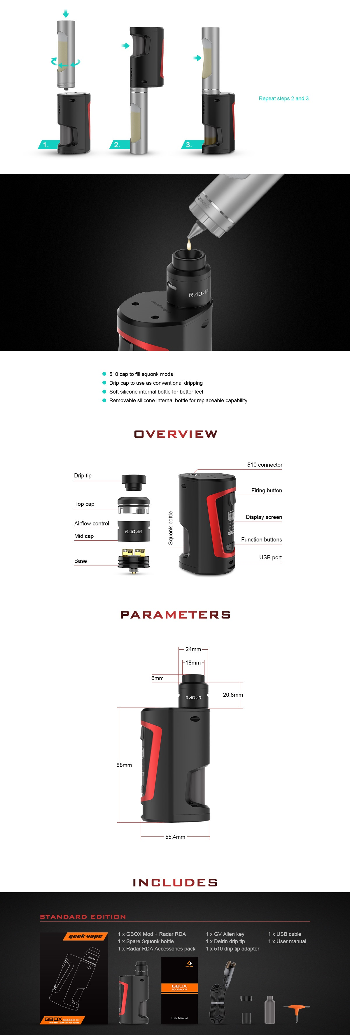 222cffe6a16f silicone internal bottle for long term economical usage due to its  replaceable capability. With 30ml ejuice capacity.