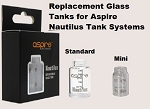 Nautilus replacement Pyrex Glass Tank Tubes, Mini and Large