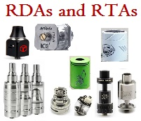 RBA and RTA Rebuildable Atomizers and Tanks