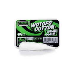 Wotofo Profile RDA 6mm Agleted Organic Cotton 10pcs/pack