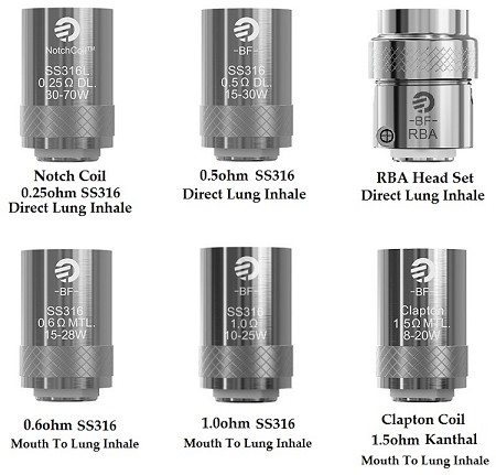 Joyetech BF Series Replacement Coil for Cubis, eGo AIO, and CUBOID Mini