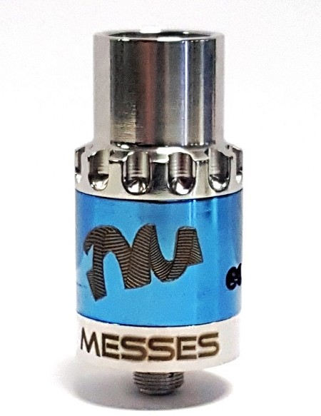 Authentic Silver and Blue Twisted Messes RDA by Comp Vape and Twisted Messes