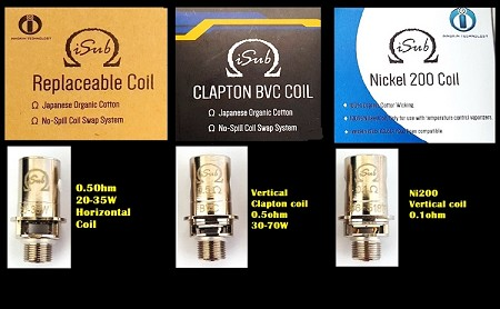 Innokin iSub Tank Series Replacement Coil, Multiple styles