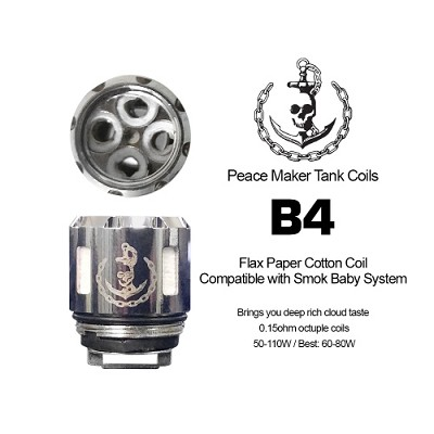 Peace Maker Tank Coils 2 Pack  (TFV8 Baby Compatible)