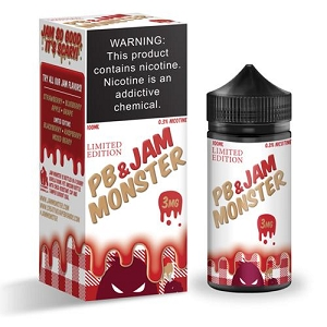 100ml PB & Jam Strawberry by Jam Monster