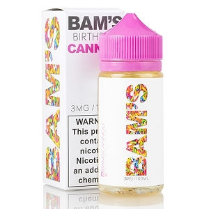 100ml Birthday Cannoli by Bam's Cannoli