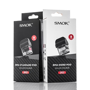 Smok RPM Replacement Pod 3-Pack of Empty Cartridges (Atomizers Not Included)