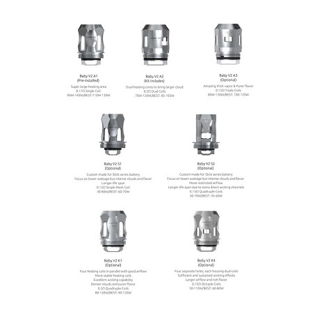 Smok Baby V2 Replacement Coils 3-Pack
