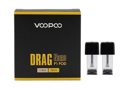 VooPoo Drag Nano P1 Replacement Pods 1.6ml 2-Pack